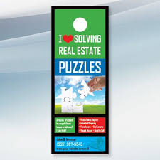 door hanger design real estate. House Puzzle - Real Estate Door Hanger Design For Investors