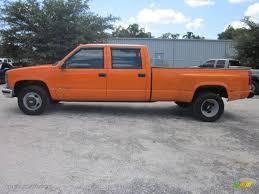 Fleet Orange 1999 Chevrolet C/K 3500 K3500 Crew Cab 4x4 Dually ...
