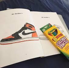 jordan sneaker coloring books image
