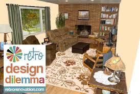 living room roman brick fireplace