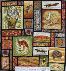 Quilting Patchwork Sew Fabric AUSTRALIAN ABORIGINAL ANIMALS Panel ... & Quilting Patchwork Sew Fabric AUSTRALIAN ABORIGINAL ANIMALS Panel 60x55cm  NEW Adamdwight.com
