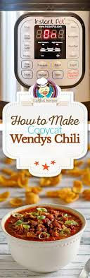 make your own version of copycat instant pot wendys chili at home