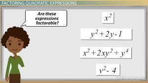 factoring quadratic expressions