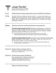 Nursing Assistant Resume Best 295 Certified Nursing Assistant Resume Httpwwwresumecareer