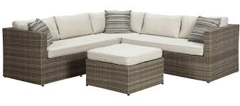 outdoor sectional. Unique Sectional Peckham Park 4 Piece Outdoor Sectional Set  MJM Furniture In A