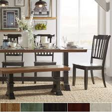 farmhouse dining room table lovely eleanor black farmhouse trestle base slat back 6 piece dining set