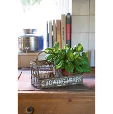 Herb Garden For Kitchen Rustic Rattan Kitchen Herb Garden Various Kitchen And Eating