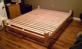 Building Bed Frame Diy Platform Bed With Floating Nightstands 9 Steps With  Pictures Download