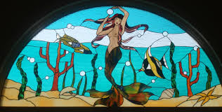 Mermaid Stained Glass Pattern Magnificent Design Ideas