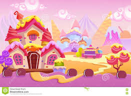 creative ilration and innovative art background set 1 ice cream town