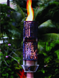 outdoor gas tiki torch hawaiin hand crafted bamboo tiki torch wanting to add that romantic fire in the air or wan premium luxury outdoor lighting