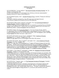 Christiandoctrine Bibliography Creed Theology