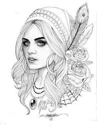 Aria Pretty Little Liars Coloring Pages Gypsy Tattoo Design
