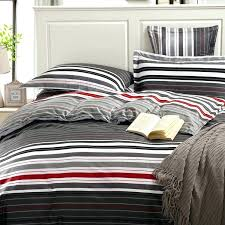 red stripe double duvet cover grey and red stripes printing 4pc bedding set queen bed duvet