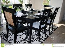 Black And White Kitchen Table Dining Set In Black And White Stock Images Image 7324344