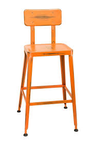 industrial restaurant furniture. Simon Industrial Bar Stool In Distressed Orange Industrial Restaurant Furniture