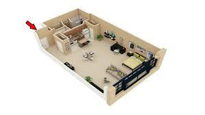 22 Simple Studio Apartment Floor Plans