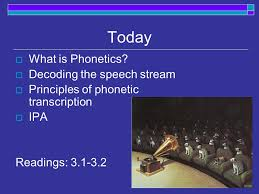 Unless you have the latest technology, some letters sound very similar over the telephone. Today What Is Phonetics Decoding The Speech Stream Principles Of Phonetic Transcription Ipa Readings Ppt Download