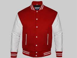 custom varsity jackets for men red and white