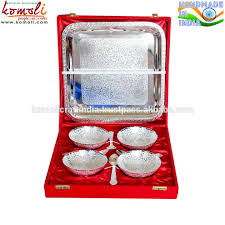 9 piece br silver bowl set a wonderful indian wedding return gift favors indian wedding return gift indian wedding favors indian br bowl