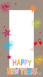 multicolor new year frame