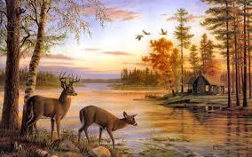 deer painting 9decor