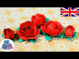 Red Paper Flower How To Make Paper Flowers Diy Paper Roses Valentines Red Roses Mothers Day Cards Mathie