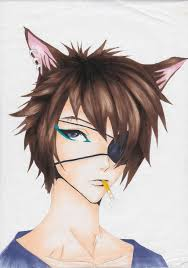 Anime Wolf Guy For Thatmangagirl By Hinamai Chan On Deviantart