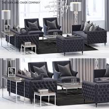 the sofa and chair company furniture set sofa 3d model 1