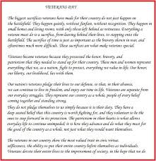 short essay speech on veterans day for school students in english  veterans day short essay for school students in english