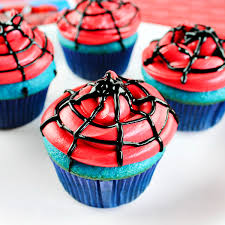 Easy Spiderman Cupcakes Comic Con Family