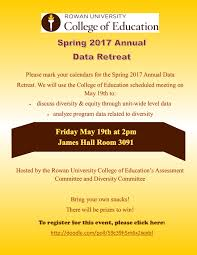 college of education rowan university save the date 19th 2017