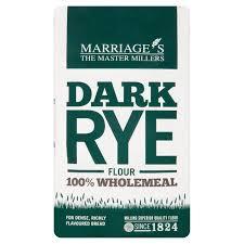 Marriages Dark Rye Flour 1kg From Ocado