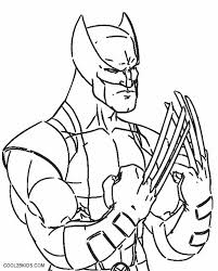 X men coloring pages for kids. Printable Wolverine Coloring Pages For Kids
