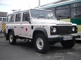 Land Rover Defender Red Warning Light Bu08hvr British Red Cross Land Rover Defender 110 4x4 Supp