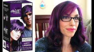 Splat Hair Dye Review And Demo Lusty Lavendar
