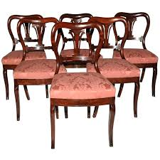 original duncan phyfe dining table antique set of 6 dining chairs
