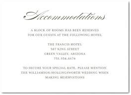 wedding accommodations template free wedding accommodation card template noshot info
