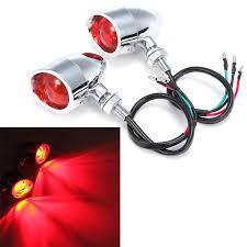 Xl Light Us 19 43 19 Off Chrome Bullet Rear Indicators Brake Tail Light Fits For Harley Davidson Sportster 883 1200 Xl Bobber Chopper Custom On Aliexpress