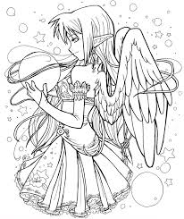 Small Picture Free Coloring Pages Of Anime Dark Angel Girl 925 Bestofcoloringcom