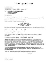 Pay Off Letter Sample Letter Idea 2018