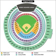 Rogers Centre Detailed Seating Chart Rogers Centre Seating Chart Seating Chart