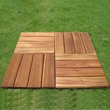 vifah roch 4 slat 12 in x 12 in wood outdoor balcony deck