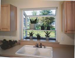 Decorations:Small Kitchen Windows Garden Jut Out Idea Above White Sink  Beautiful Garden Window Decoration