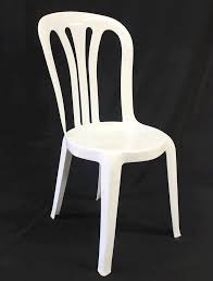 plastic white bistro chair