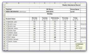 Employee Attendance Sheet In Excel For Office Attendance Excel Sheet Template Rome Fontanacountryinn Com