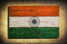handmade distressed wooden flag of india vintage art distressed weathered