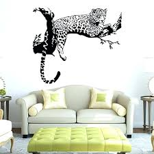 large wall decals for living room tiger pattern creative personality stickers bedroom decoration cre