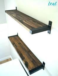 home depot floating shelves rustic wood