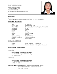 Astonishing Sample Resume Of Sales Lady 29 For Your Resume Templates Free  With Sample Resume Of